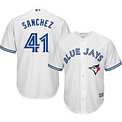Majestic Men's Replica Toronto Blue Jays Aaron Sanchez #41 Cool Base Home White Jersey