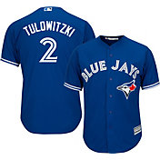 Majestic Men's Replica Toronto Blue Jays Troy Tulowitzki #2 Cool Base Alternate Royal Jersey