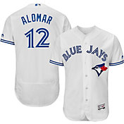 Majestic Men's Authentic Toronto Blue Jays Roberto Alomar #12 Home White Flex Base On-Field Jersey