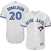Majestic Men's Authentic Toronto Blue Jays Josh Donaldson #20 Home White Flex Base On-Field Jersey