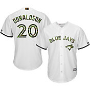 Majestic Men's Replica Toronto Blue Jays Josh Donaldson #20 2016 Memorial Day Cool Base Home White Jersey