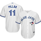 Majestic Men's Replica Toronto Blue Jays Kevin Pillar #11 Cool Base Home White Jersey