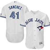 Majestic Men's Authentic Toronto Blue Jays Aaron Sanchez #41 Home White Flex Base On-Field Jersey