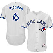 Majestic Men's Authentic Toronto Blue Jays Marcus Stroman #6 Home White Flex Base On-Field Jersey