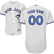 Majestic Men's Custom Authentic Toronto Blue Jays Flex Base Home White On-Field Jersey