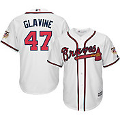 Majestic Men's Replica Atlanta Braves Tom Glavine #47 Cool Base Home White Jersey w/ HOF Patch