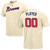 Majestic Men's Full Roster Atlanta Braves Ivory T-Shirt