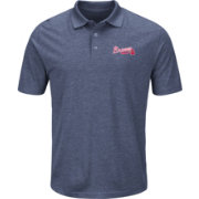 Majestic Men's Atlanta Braves Cool Base Navy Endless Flow Polo