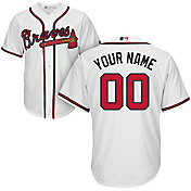 Majestic Men's Custom Cool Base Replica Atlanta Braves Home White Jersey