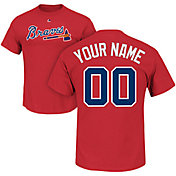 Majestic Men's Custom Atlanta Braves Red T-Shirt
