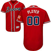 Majestic Men's Full Roster Authentic Atlanta Braves Flex Base Alternate Red On-Field Jersey