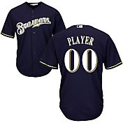 Majestic Men's Full Roster Cool Base Replica Milwaukee Brewers Alternate Home Navy Jersey