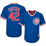 Majestic Men's Replica Chicago Cubs Bruce Sutter Cool Base Royal Cooperstown Jersey