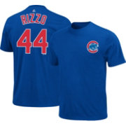 Majestic Triple Peak Men's Chicago Cubs Anthony Rizzo Royal T-Shirt