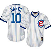 Majestic Men's Replica Chicago Cubs Ron Santo Cool Base White Cooperstown Jersey