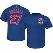 Majestic Men's Chicago Cubs Addison Russell #27 Royal T-Shirt