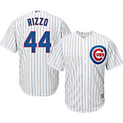 Majestic Men's Replica Chicago Cubs Anthony Rizzo #44 Cool Base Home White Jersey