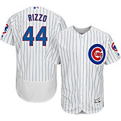 Majestic Men's Authentic Chicago Cubs Anthony Rizzo #44 Home White Flex Base On-Field Jersey