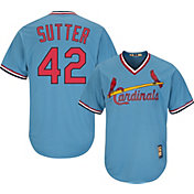 Majestic Men's Replica St. Louis Cardinals Bruce Sutter Cool Base Light Blue Cooperstown Jersey