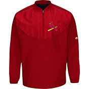 Majestic Men's St. Louis Cardinals Authentic Collection On-Field Red Cool Base Half-Zip Training Jacket