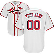 Majestic Men's Custom Cool Base Cooperstown Replica St. Louis Cardinals 1942-44 White Jersey