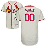 Majestic Men's Full Roster Authentic St. Louis Cardinals Flex Base Alternate Ivory On-Field Jersey
