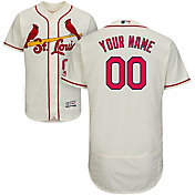 Majestic Men's Custom Authentic St. Louis Cardinals Flex Base Alternate Ivory On-Field Jersey