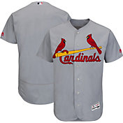 Majestic Men's Authentic St. Louis Cardinals Road Grey Flex Base On-Field Jersey
