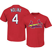 Majestic Men's St. Louis Cardinals Yadier Molina #4 Red T-Shirt