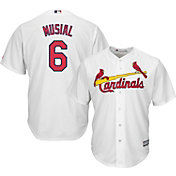 Majestic Men's Replica St. Louis Cardinals Stan Musial #6 Cool Base Home White Jersey
