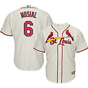 Majestic Men's Replica St. Louis Cardinals Stan Musial #6 Cool Base Alternate Ivory Jersey
