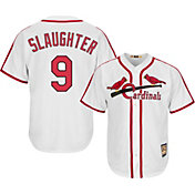 Majestic Men's Replica St. Louis Cardinals Enos Slaughter Cool Base White Cooperstown Jersey