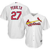 Majestic Men's Replica St. Louis Cardinals Jhonny Peralta #27 Cool Base Home White Jersey