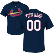 Majestic Men's Custom St. Louis Cardinals Navy T-Shirt