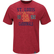 Majestic Men's St. Louis Cardinals Cooperstown Red T-Shirt