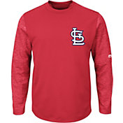 Majestic Men's St. Louis Cardinals Therma Base Red Authentic Collection Pullover Tech Fleece