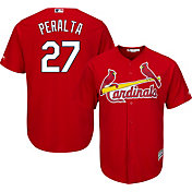 Majestic Men's Replica St. Louis Cardinals Jhonny Peralta #27 Cool Base Alternate Red Jersey