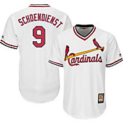 Majestic Men's Replica St. Louis Cardinals Red Schoendienst Cool Base White Cooperstown Jersey
