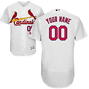 Majestic Men's Custom Authentic St. Louis Cardinals Flex Base Home White On-Field Jersey