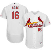 Majestic Men's Authentic St. Louis Cardinals Kolten Wong #16 Home White Flex Base On-Field Jersey
