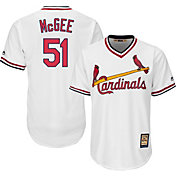Majestic Men's Replica St. Louis Cardinals Willie McGee Cool Base White Cooperstown Jersey