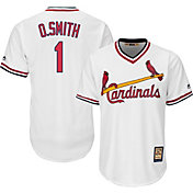Majestic Men's Replica St. Louis Cardinals Ozzie Smith Cool Base White Cooperstown Jersey