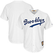 Majestic Men's Replica Brooklyn Dodgers Cool Base White Cooperstown Jersey