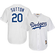 Majestic Men's Replica Los Angeles Dodgers Don Sutton Cool Base White Cooperstown Jersey