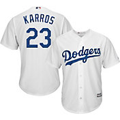 Majestic Men's Replica Los Angeles Dodgers Eric Karros #23 Cool Base Home White Jersey
