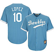 Majestic Men's Replica Brooklyn Dodgers Al Lopez Cool Base Light Blue Cooperstown Jersey