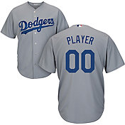 Majestic Men's Full Roster Cool Base Replica Los Angeles Dodgers Alternate Road Grey Jersey