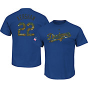 Majestic Men's Los Angeles Dodgers Clayton Kershaw #22 Memorial Day Royal T-Shirt