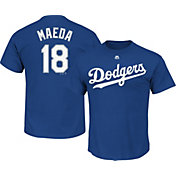Majestic Men's Los Angeles Dodgers Kenta Maeda #18 Royal T-Shirt