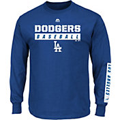 Majestic Men's Los Angeles Dodgers Proven Pastime Royal Long Sleeve Shirt